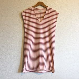 Madewell Red & White Striped Dress